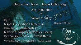 Party flyer: Humanbase feiert Jespas Birthday 16. Feb 18, 23:00