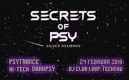 Party flyer: Secrets Of Psy 24 Feb '18, 21:00