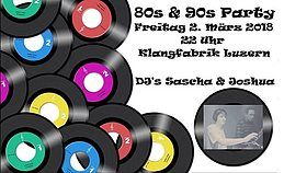 Party flyer: Back to the 80`s & 90`s 2. Mrz 18, 22:00