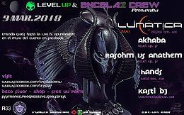 Party flyer: Level up & Encela2crew Presents:Lunatica (Live) 9 Mar '18, 23:30