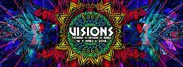 Party flyer: Visions / Hitech, Darkpsy & Techno /w. Superstrobe ua. 16 Mar '18, 23:00