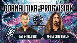 Party flyer: Gonautika meets ProgVision /w. Upgrade uvm. 24 Mar '18, 23:00