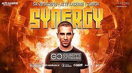 Party flyer: SYNERGY at Alte Kaserne Zurich 28. Apr 18, 22:00