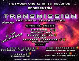 Party flyer: •TranSmission • The Magic Celebration 3aEdição 6 Dec '19, 23:00
