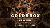 Party flyer: BYPASS UNIT VS COLORBOX Special live @Trezor 18 Jan '20, 23:00