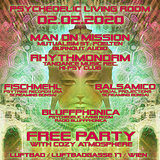 Party flyer: Psychedelic Living Room #5 2 Feb '20, 22:00