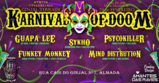 Party flyer: Hamsa Psytrybo // Karnival Of Doom 2020 24 Feb '20, 23:00