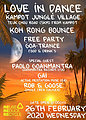 Party flyer: Koh Rong Bounce - Jungle crew 26. Feb. 20, 18:00