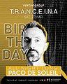 Party flyer: T.R.A.N.C.E.I.N.A Special < ALL NIGHT LONG > PACO DE SOLEIL 21 Mar '20, 23:30