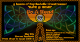 Party flyer: Psychedelic Livestreams to 'RAVE @ HOME' for 9 hours straight 8 May '20, 18:30
