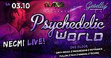 Party flyer: Psychedelic World | Necmi Live 3. Okt. 20, 22:00
